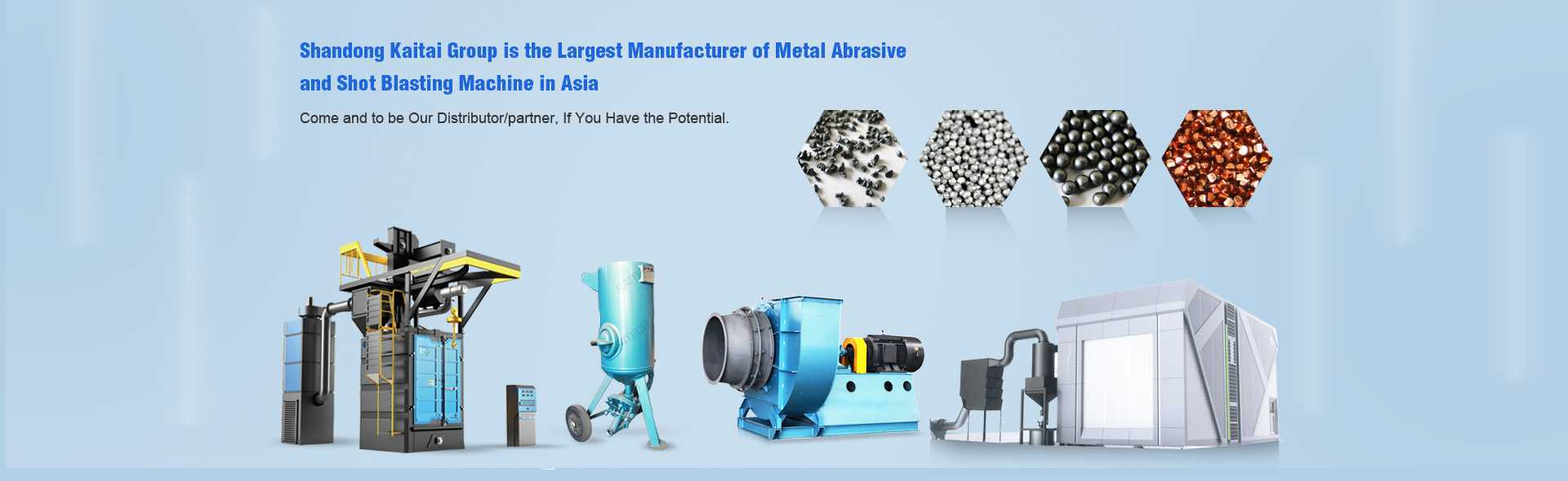 Shandong Kaitai Group Co., Ltd. is the largest manufacturer of metal abrasive in Asia