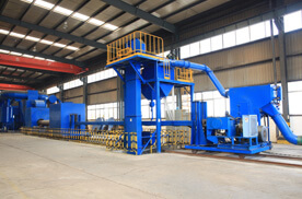 QWD Mesh Belt Shot Blasting Machine