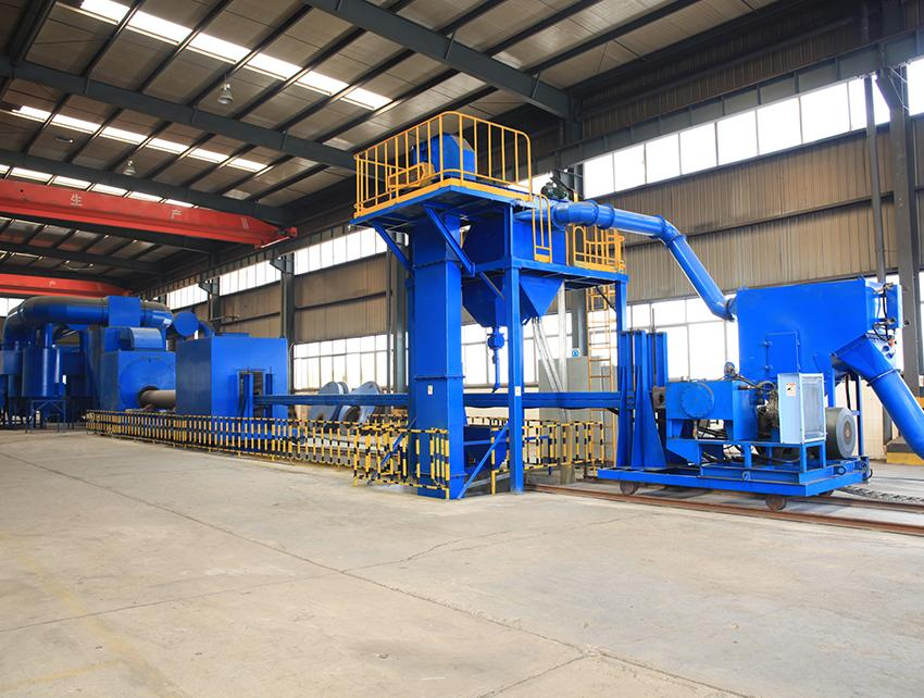 QGW Steel Pipe Outer Wall Special Shot Blasting Machine