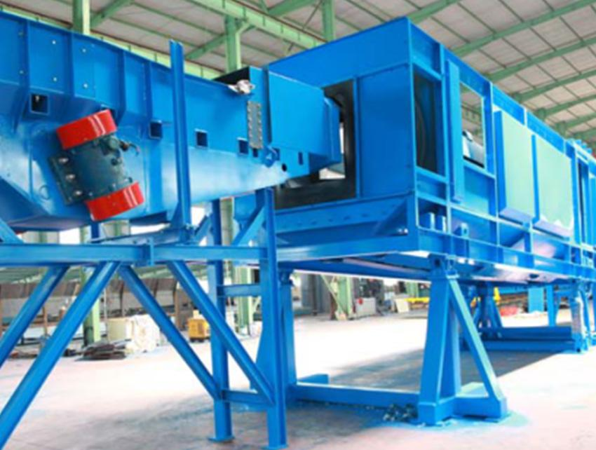 DT14 Continuous Pass-through Type Swing Bed Shot Blasting Machine