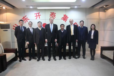 Finnish Ambassador of China visiting Kaitai